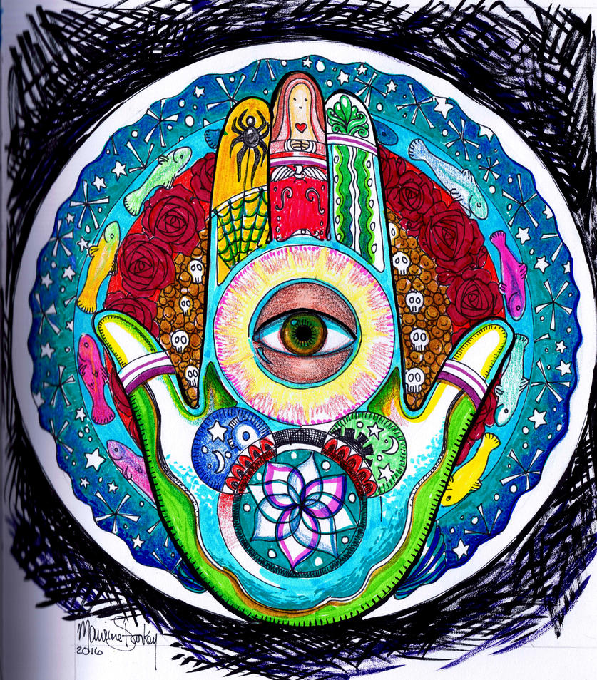 Hamsa Mandala WIP by MyStarkey