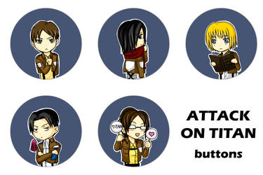 Attack on Titan Buttons