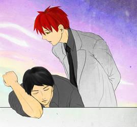 It's time to wake up, Nijimura-san (NijiAka)
