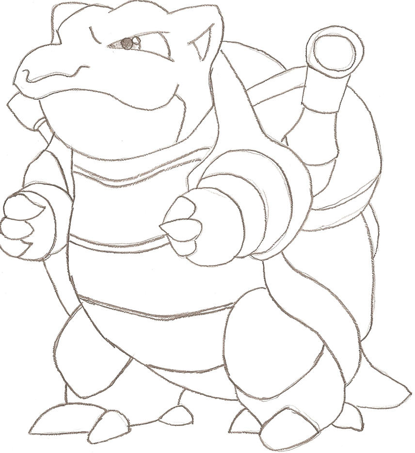 pokemon coloring pages of blastoise - photo#34