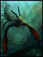 Prehistoric Sea Creature by Sergon