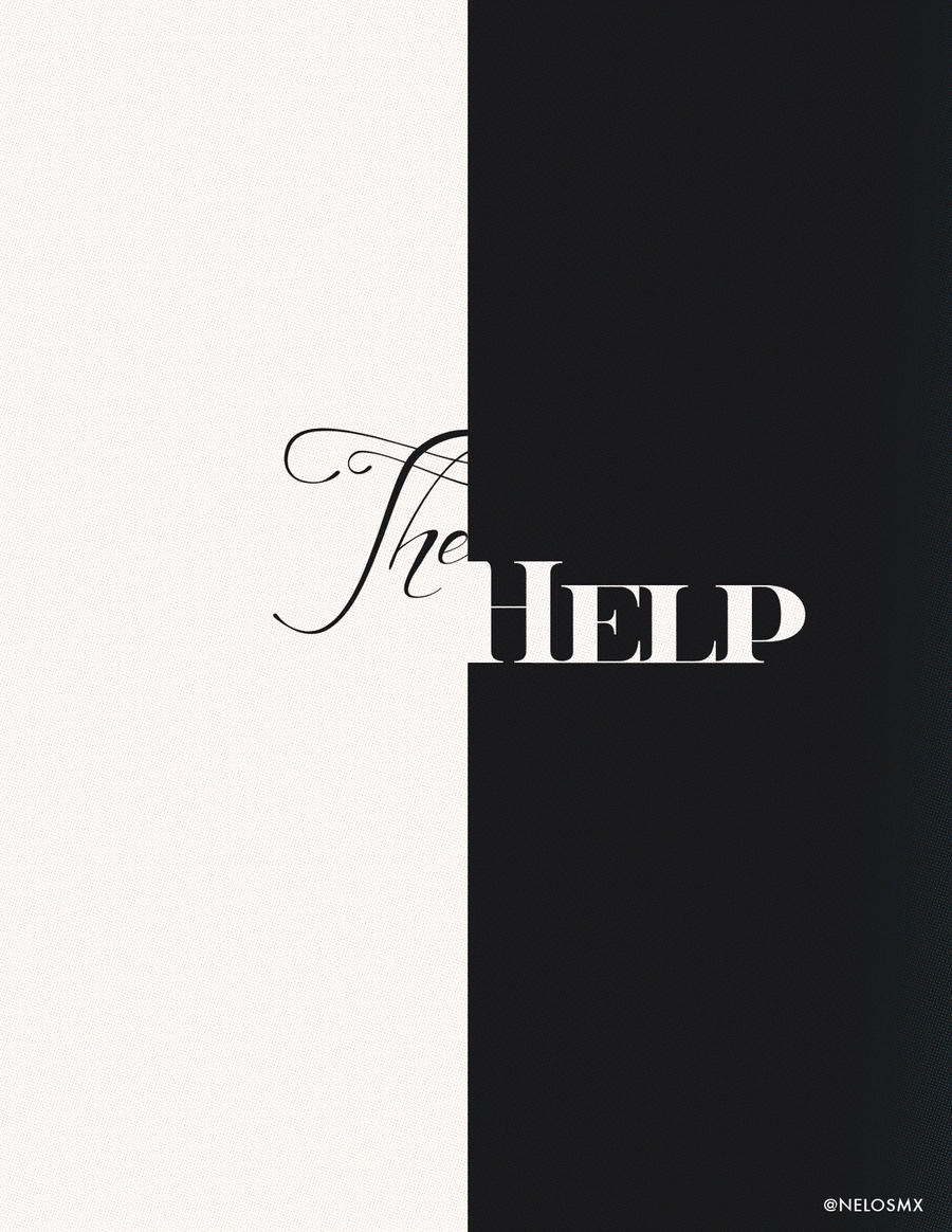 Minimalist movie poster the help by nelos on deviantart for Best books on minimalism