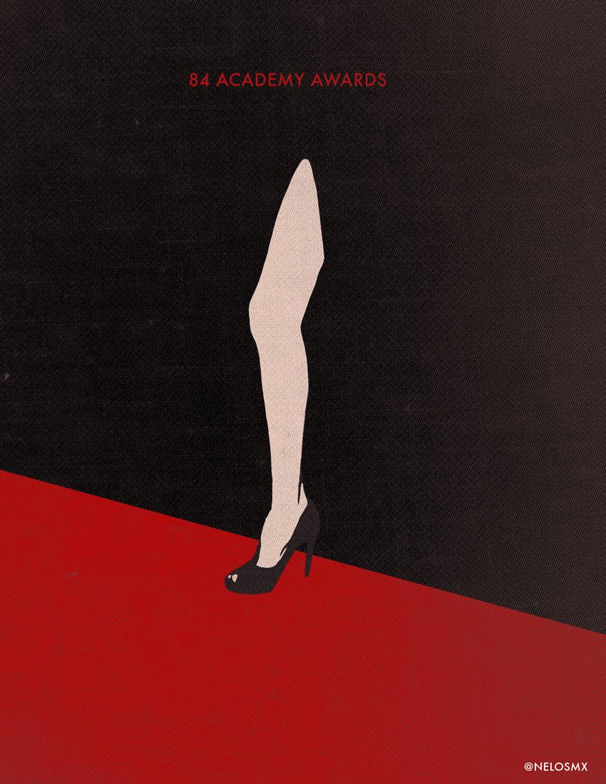 Minimalist movie poster 84 academy awards by nelos on for Art post minimalisme