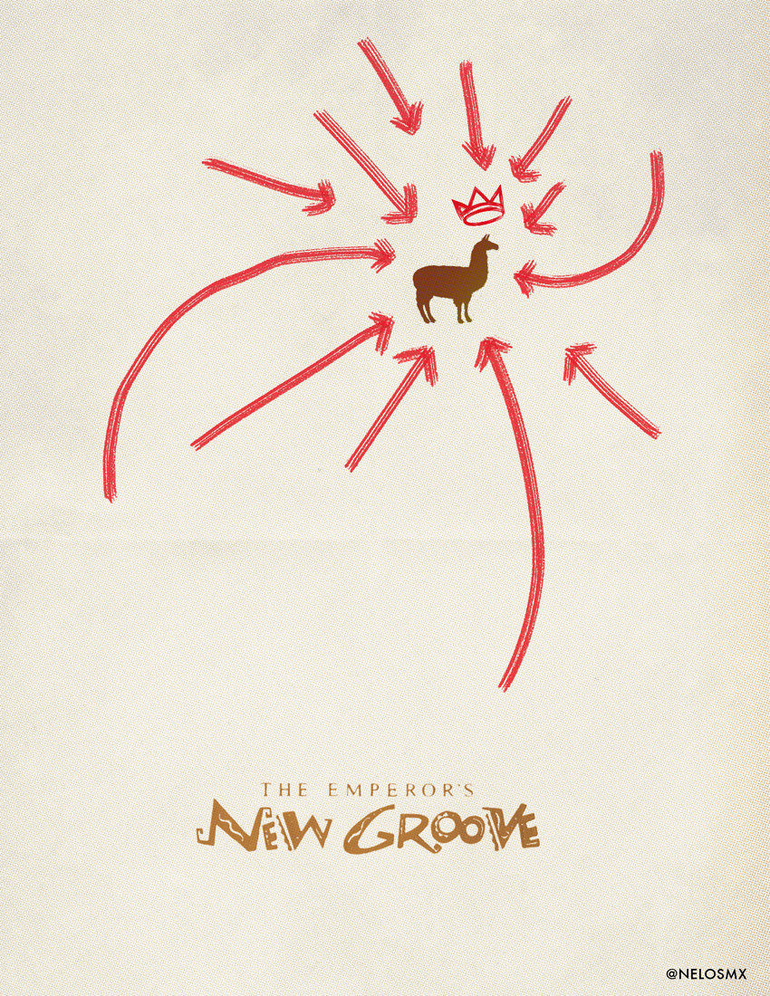 Minimalist Movie Poster: The Emperor's New Groove