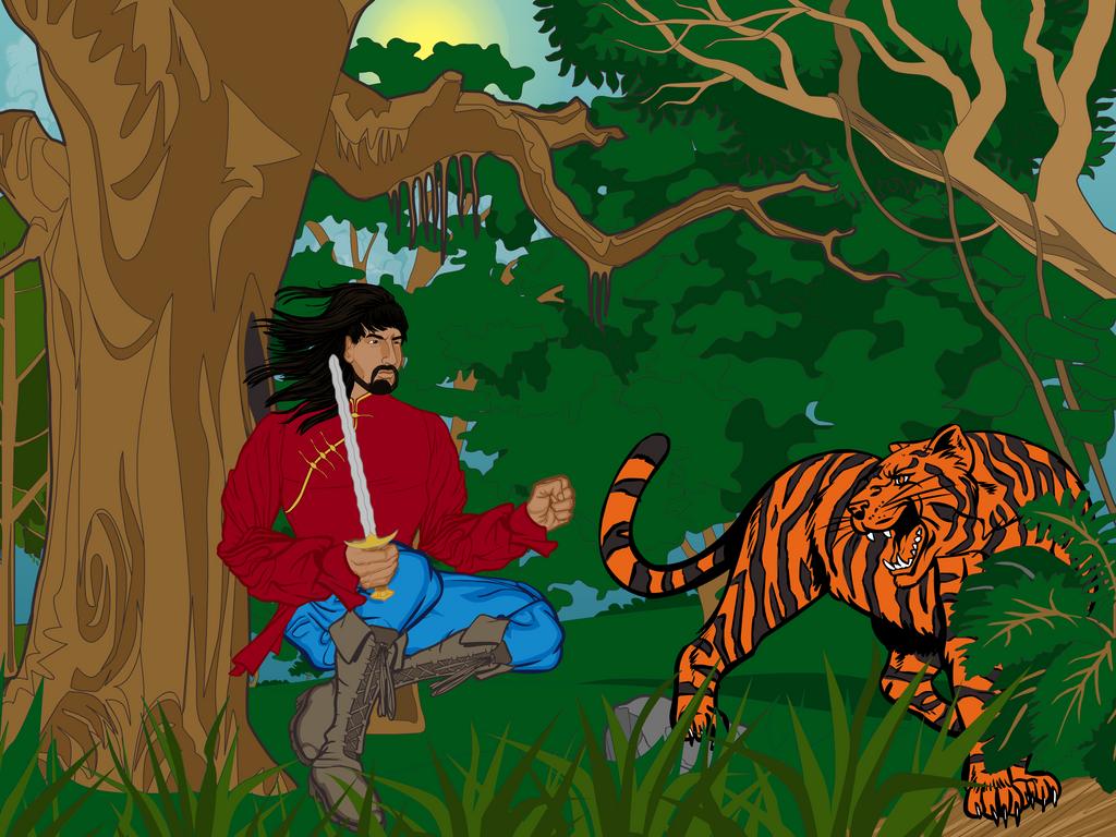 Tiger Hunt by DionneJinn