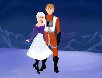 Winter and Tycho Celchu - Snow Queen Scene Maker by DionneJinn