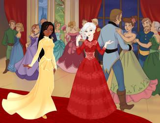 Red Carpet Inyri and Vera - Snow Queen Scene Maker by DionneJinn