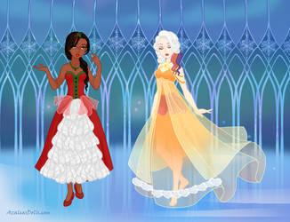 Pony dresses Inyri and Vera - Snow Queen Scene Mak by DionneJinn