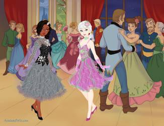 Inyri and Vera hitting a Ballroom - Snow Queen by DionneJinn