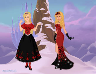Red and Black - Snow Queen Scene Maker by DionneJinn