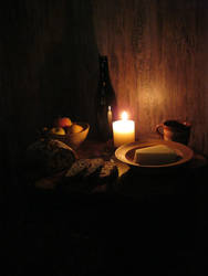 Bread, cheese and apples by DionneJinn