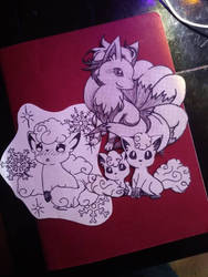 Vulpix and Ninetails sketches
