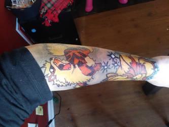 Arcanine sharpie tattoo