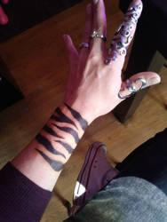 Sharpie tiger stripes =^~^=