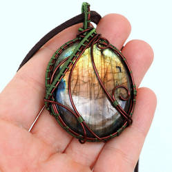 Labradorite Necklace with Nature colors