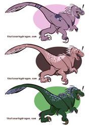 Velociraptor Adopts! - $10 by ThatSnarkyDragon