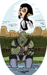 TMNT Post apocalyptic Leo thinks of Karai. by RastaSaiyaman