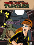 Teenage Mutant Ninja Turtles. Donnie and April by RastaSaiyaman