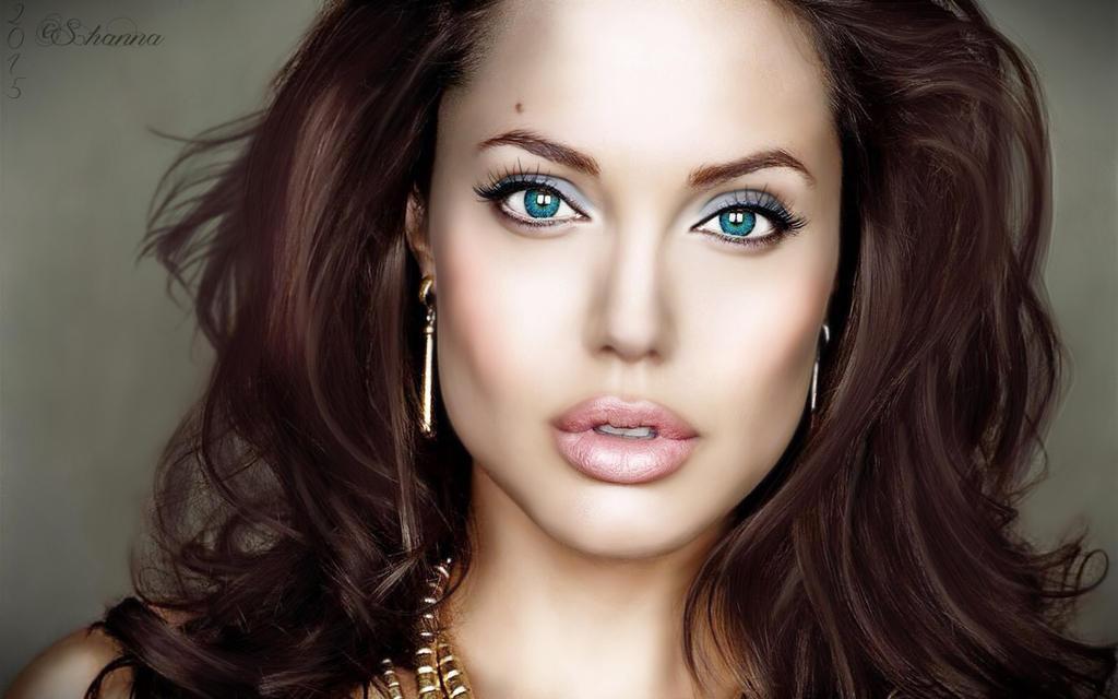 Angelina Jolie Painted by Shann2j