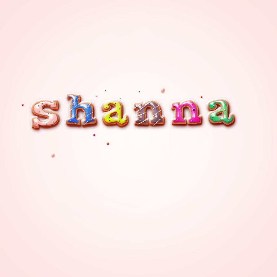 Donut Typography by Shann2j