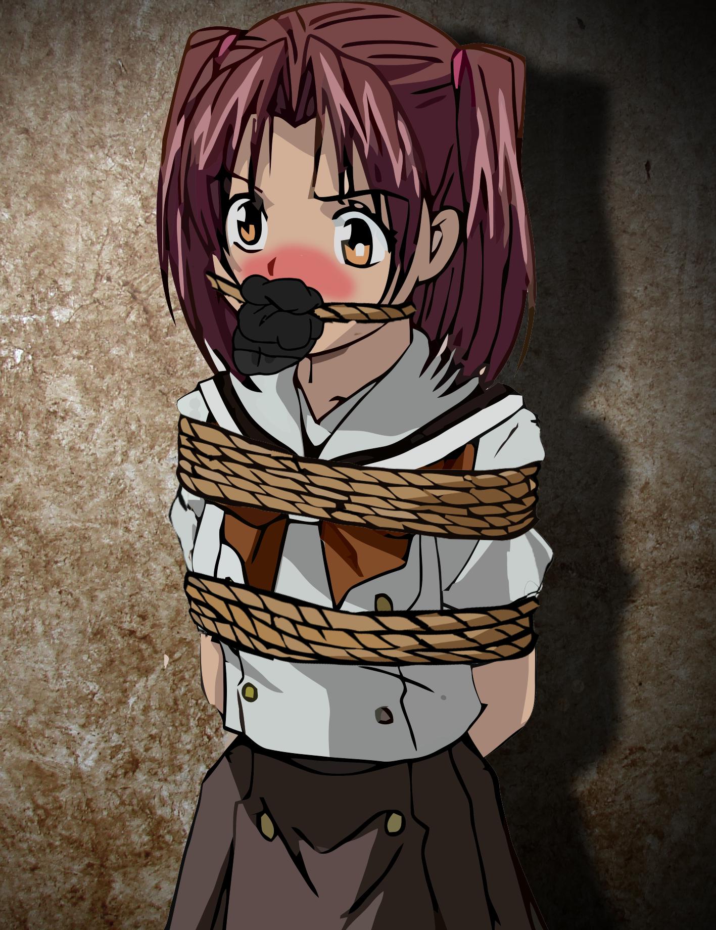 Gagged anime