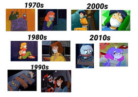 Cartoon Damsels Through The Years