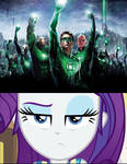 Rarity is unamused by Green Lantern 2011