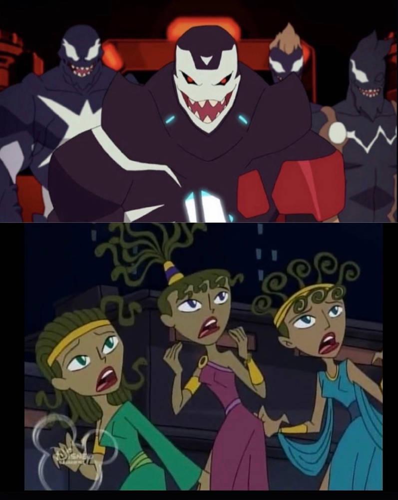 Gorgon Sisters React To Venomized Avengers