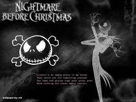 Nightmare Before xmas wall by DespairSoul