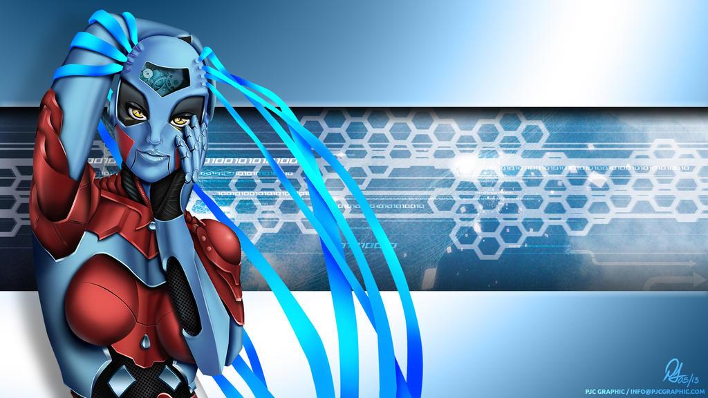 Wallpaper Robot Girl by demiunt