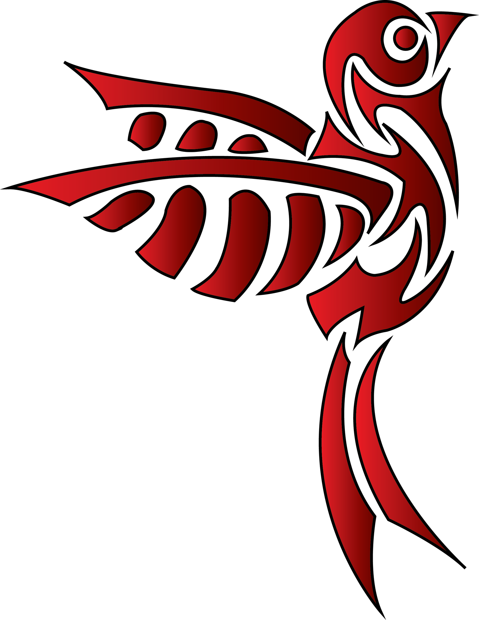 tribal bird tattoo by b southern on deviantart. Black Bedroom Furniture Sets. Home Design Ideas
