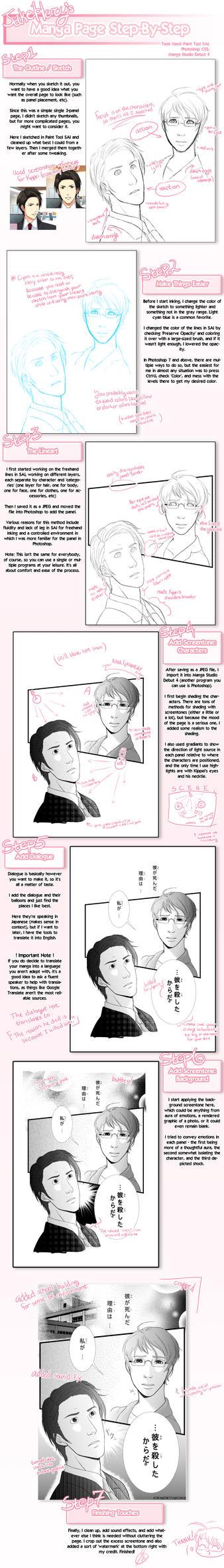 JakeHercy's Manga Page Step-by-Step Tutorial by JakeHercy