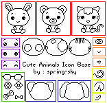 Cute Animals Icon Base by spring-sky