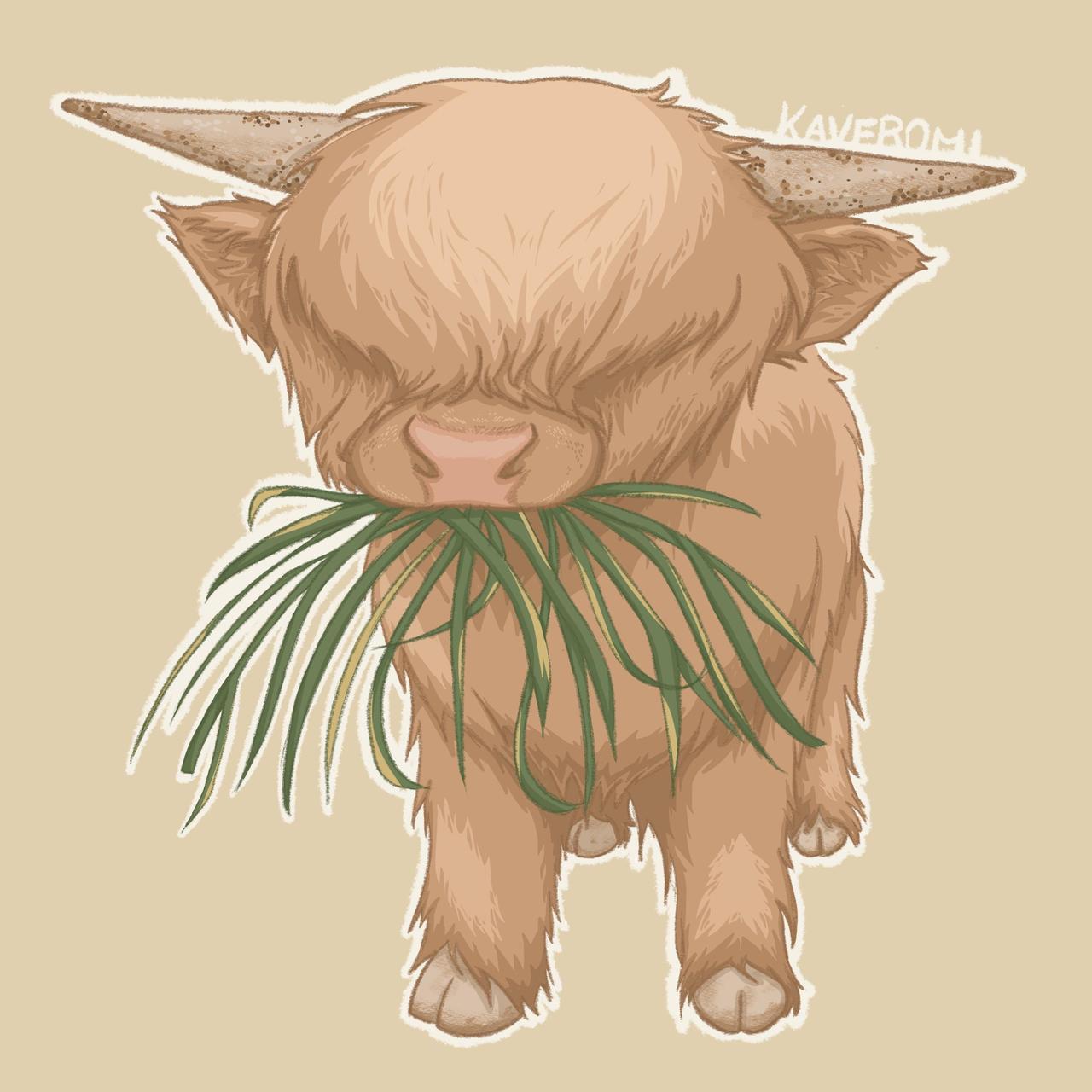 Munch munch | Fluffy cow