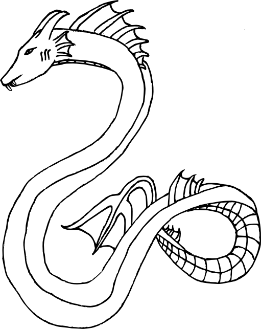 sea serpent coloring pages - photo#16