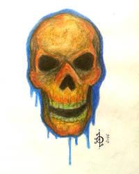 Skull sketch by Moonknight