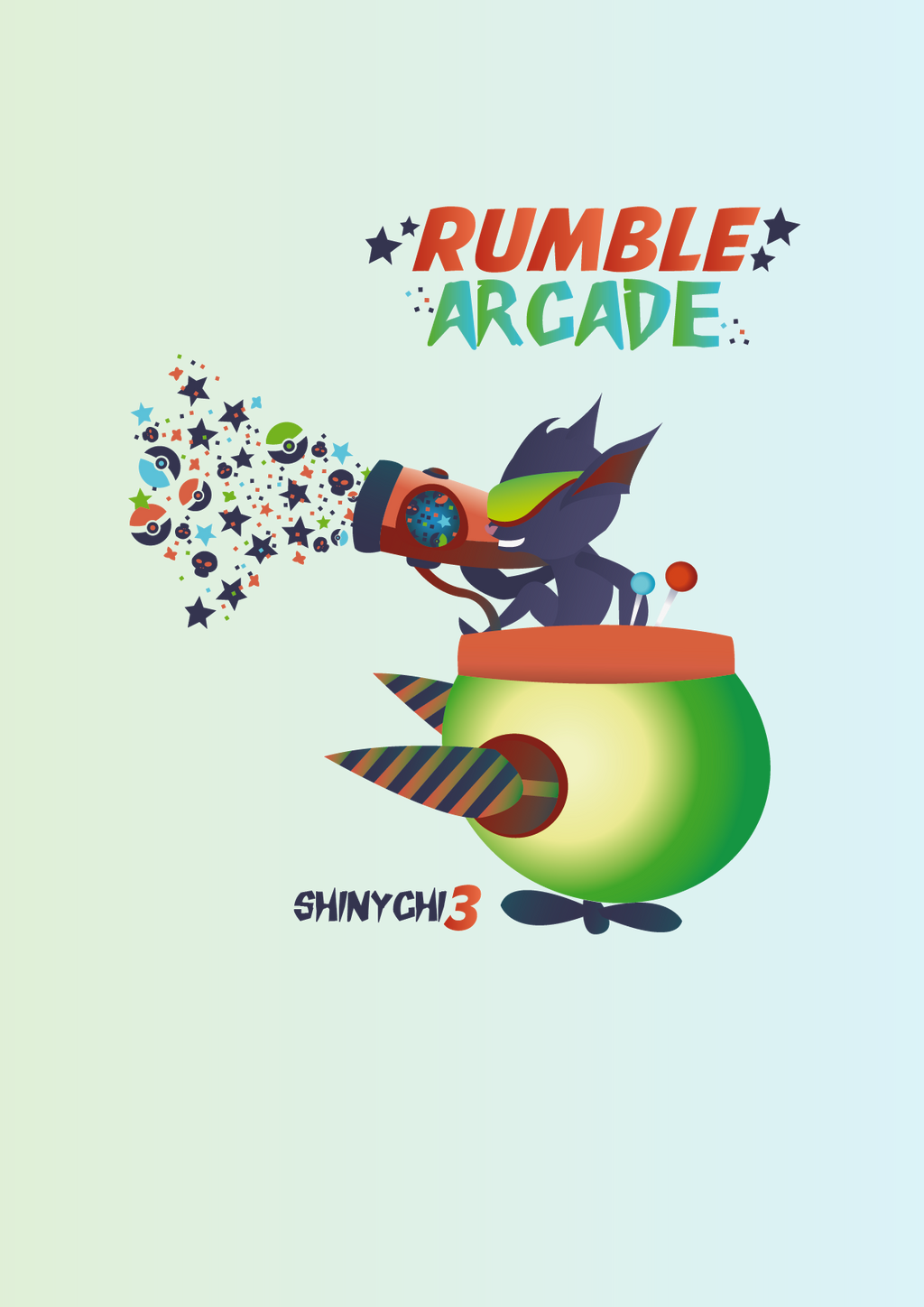 Rumble Arcade by Shiny-chi