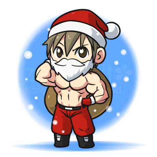 M is for Muscular Santa by zephleit