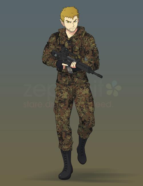 [COM B9.07] Army Wolf by zephleit