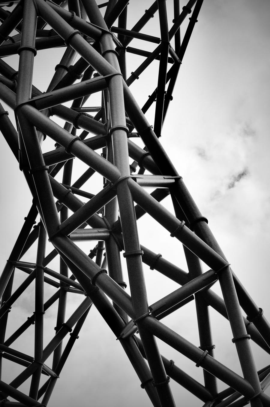 Black and white metal structure by kira gee on deviantart for Structure photography