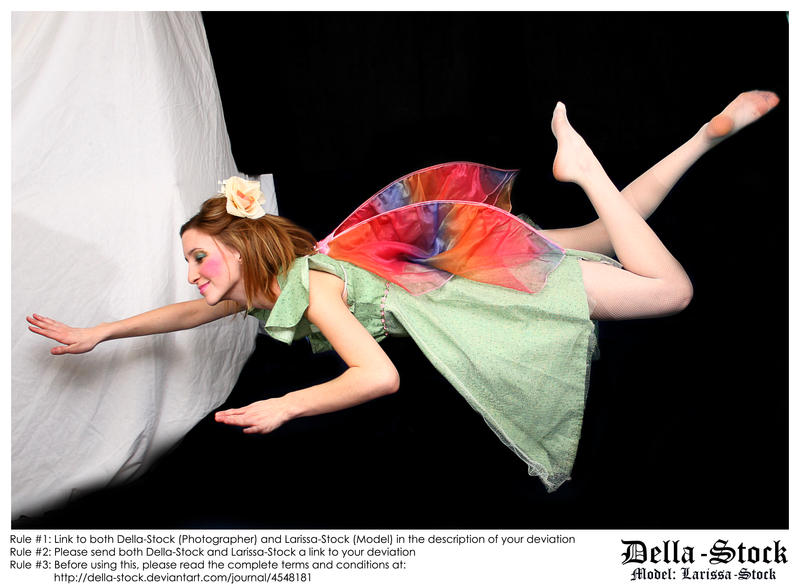 Flying Fraulein Fairy.2 by Della-Stock