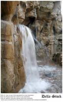Rainforest Cafe Waterfall.9 by Della-Stock