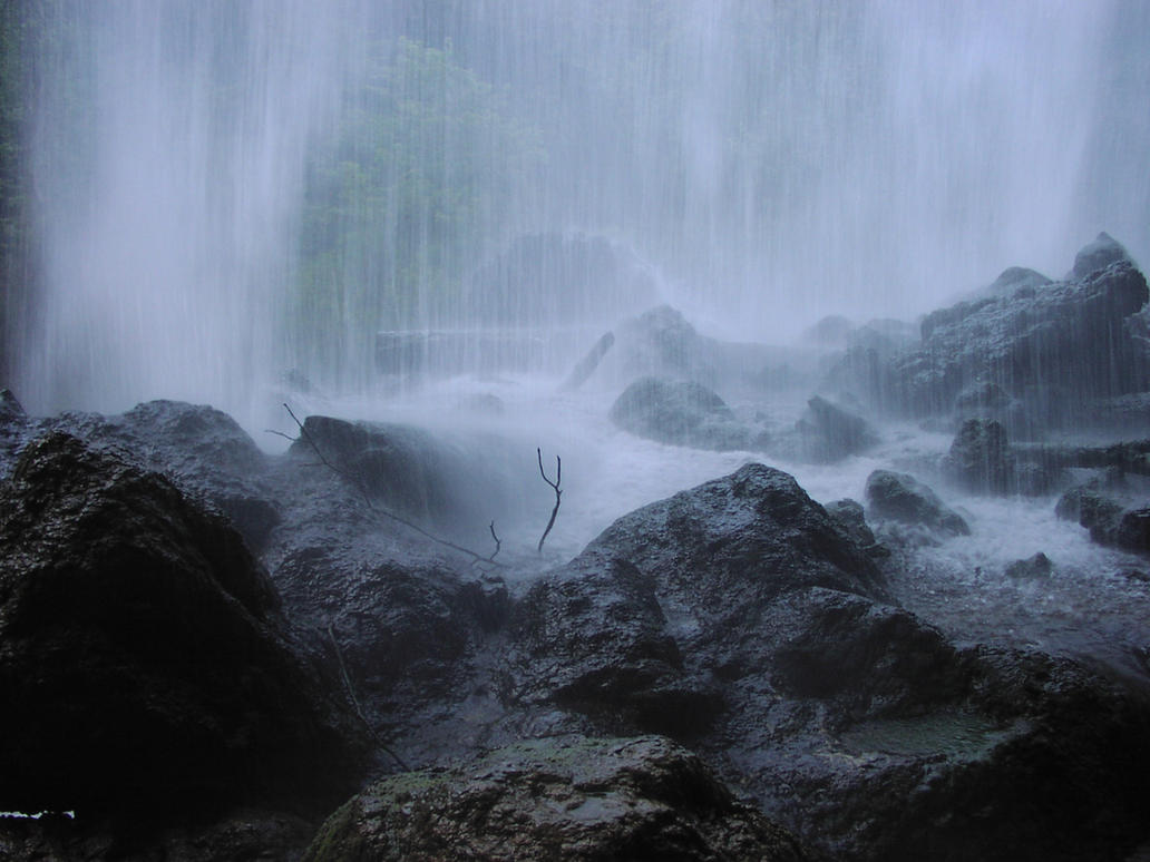 Blue Waterfall by Della-Stock