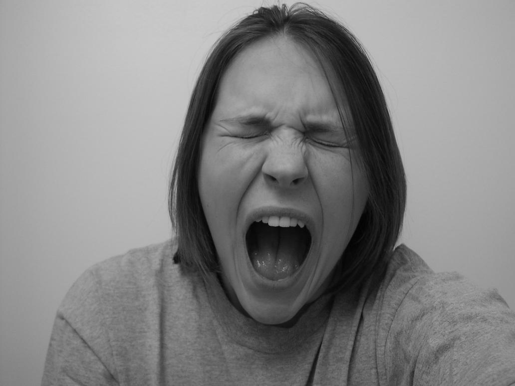 Face-Screaming by Della-Stock Screaming Face