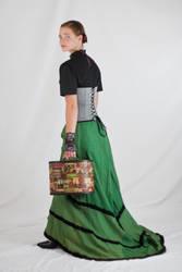 Victorian Lady Walking Away by Della-Stock