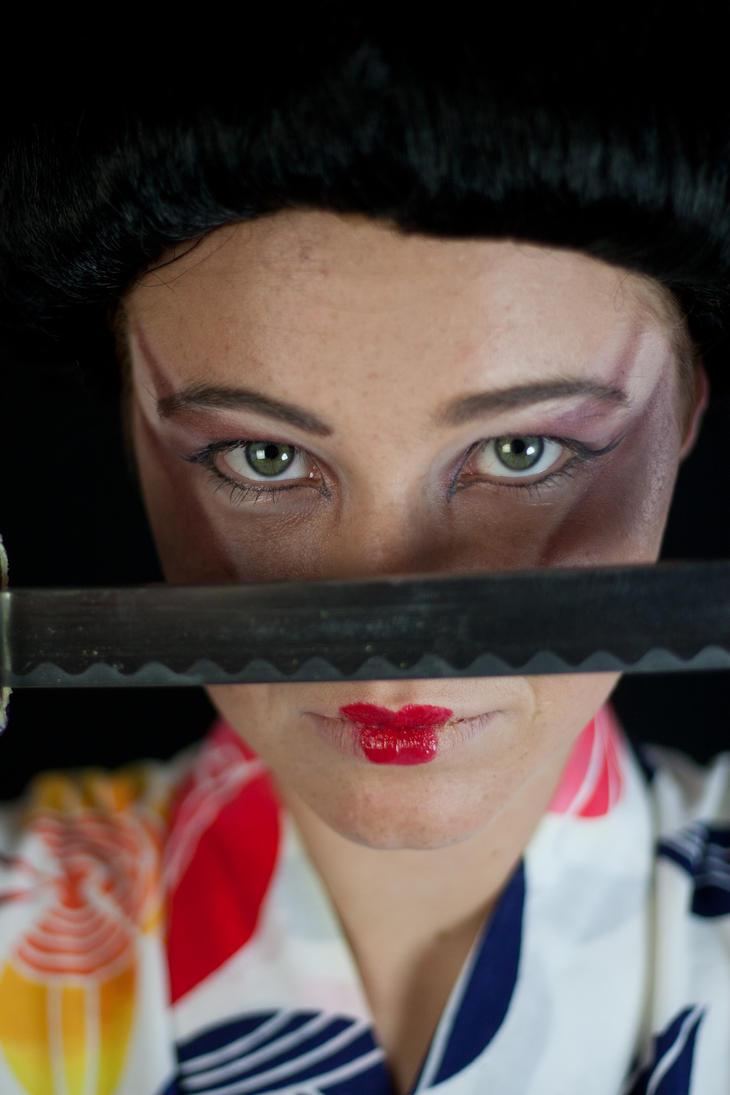 Geisha Face - Katana by Della-Stock