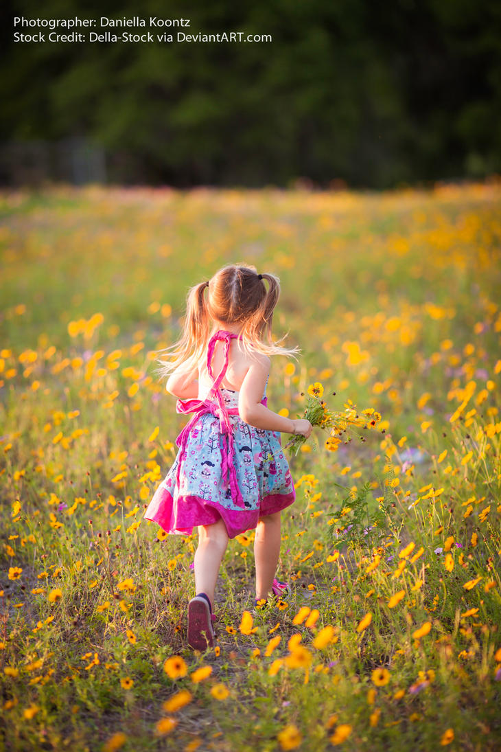 Child Running Away.2 by Della-Stock