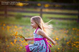 Child Running Away.3 by Della-Stock