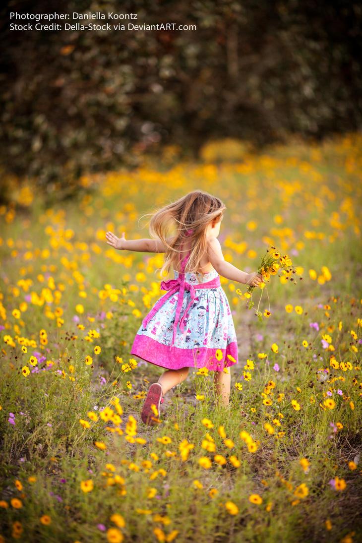 Child Running Away by Della-Stock