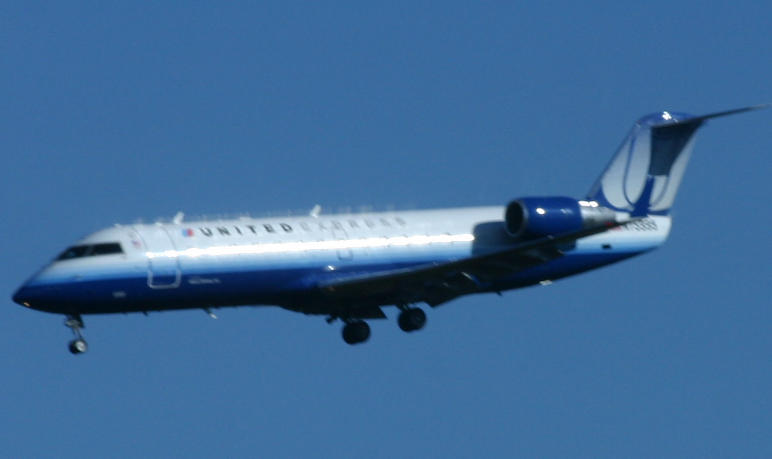 Airplane- United Express by Della-Stock
